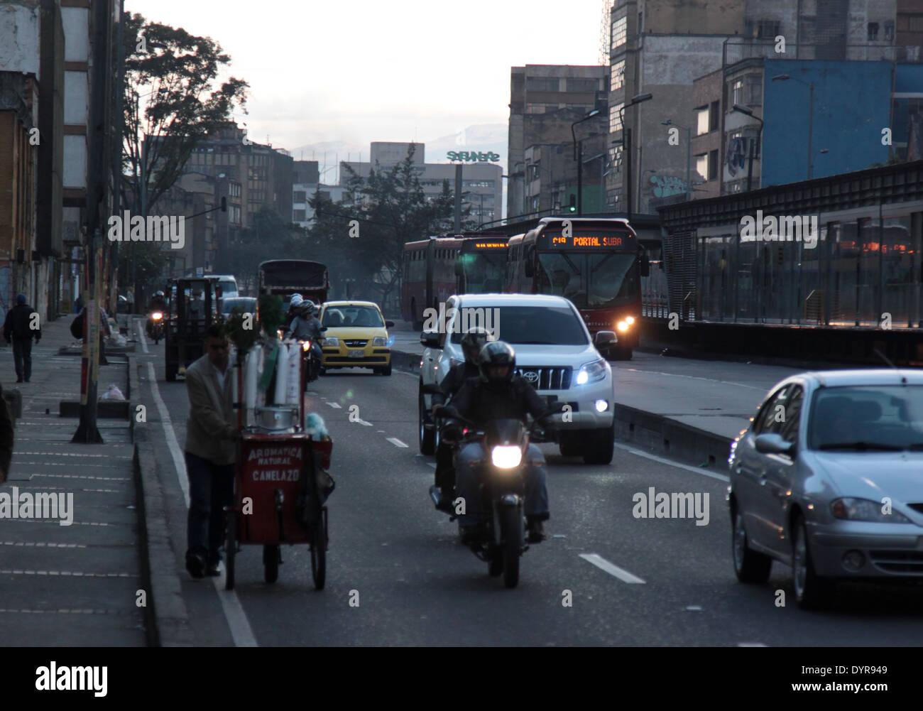 rush hour traffic - Stock Image