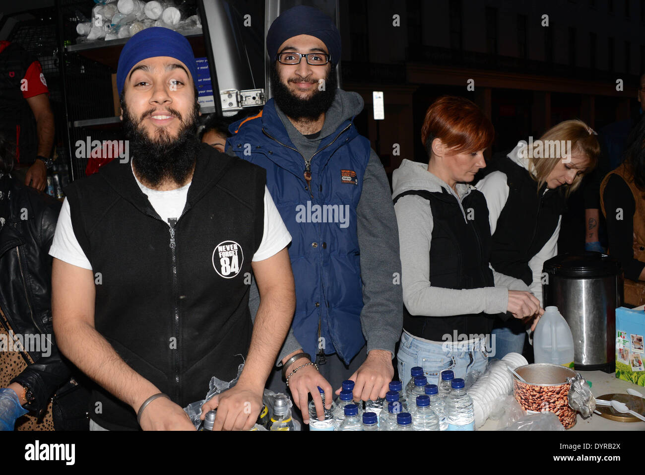 London, UK  24th April 14 : Sikh Welfare & Awareness Team (S W A T