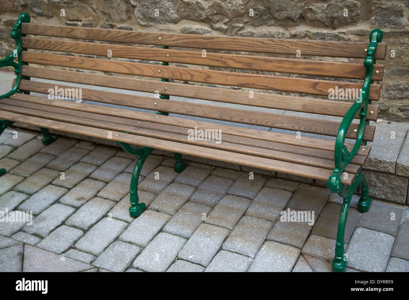 Park Bench Wooden Metal Stock Photos Park Bench Wooden Metal Stock