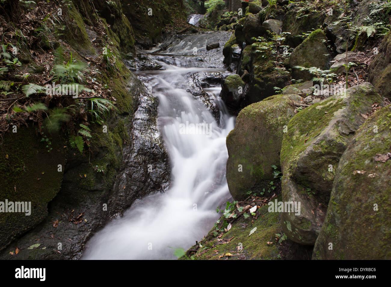 Water Stream Near Odawara, Kanagawa Prefecture, Japan - Stock Image