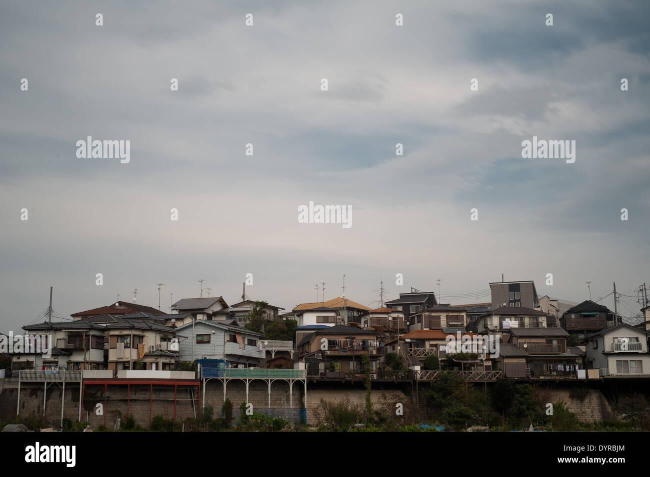 Houses In Yamato, Kanagawa Prefecture, Japan - Stock Image