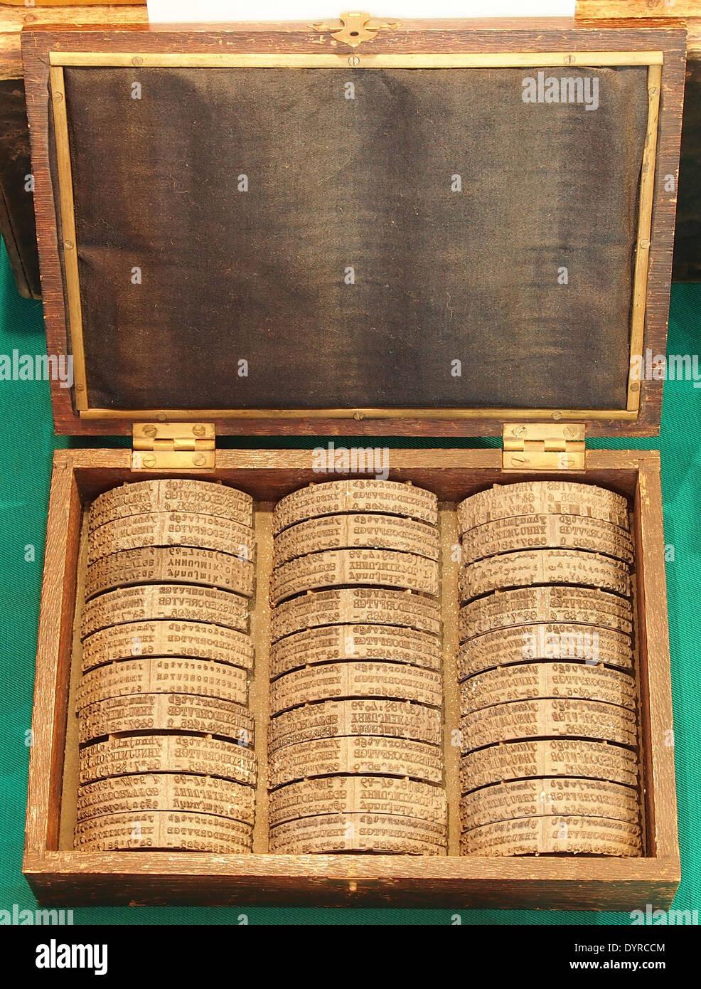 Typewriter language modules - Stock Image