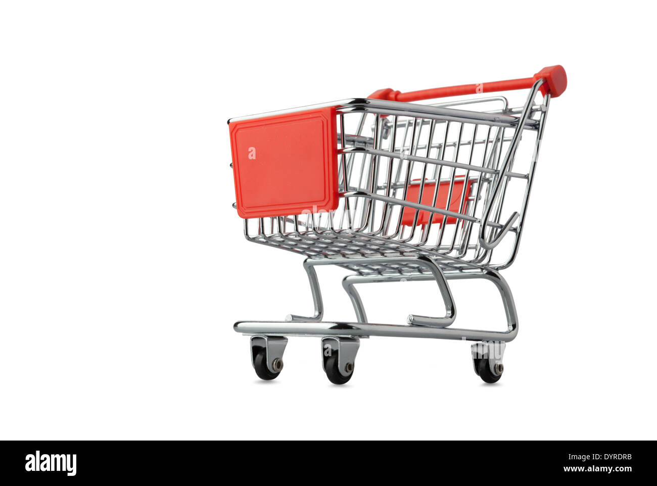 This is shopping cart isolated on white Stock Photo