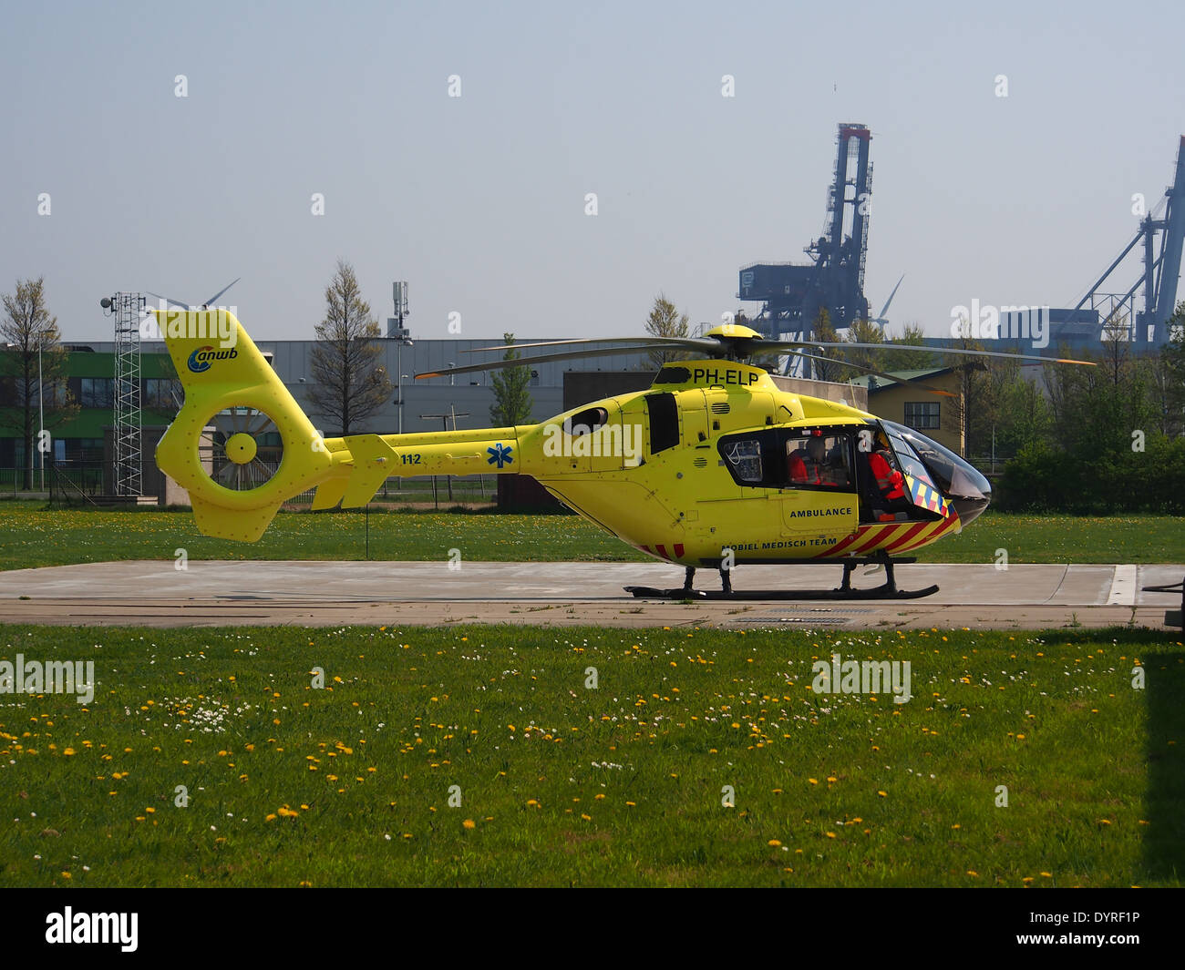 Eurocopter EC 135T 2 PH ELP At Amsterdam Heliport ICAO EHHA Port Of