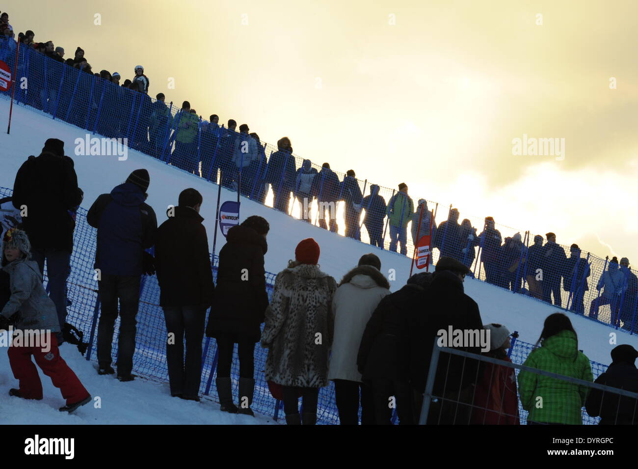 The FIS Alpine Ski World Cup, 2011 Stock Photo