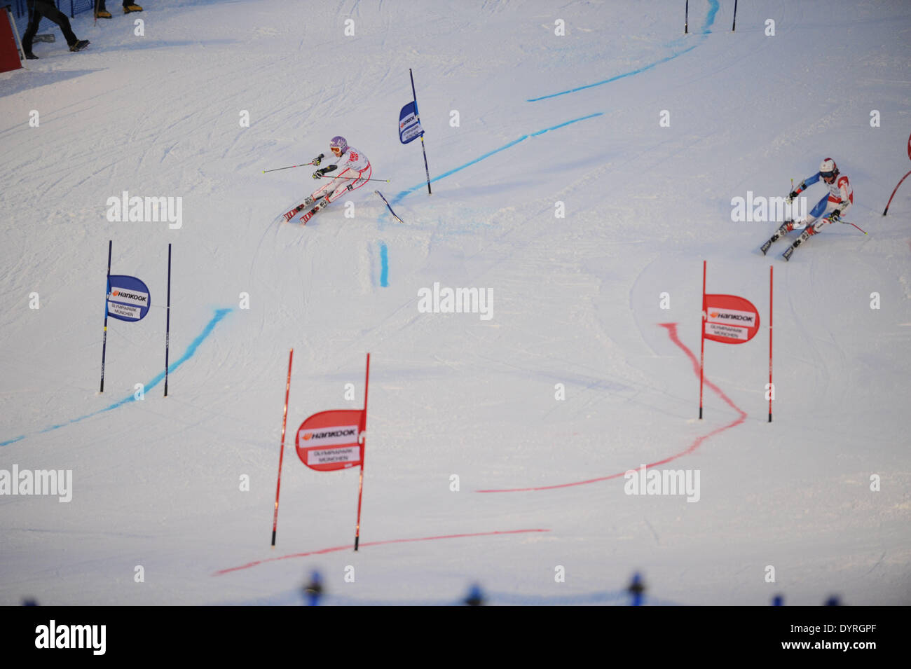 The FIS Alpine Ski World Cup, 2011 Stock Photo