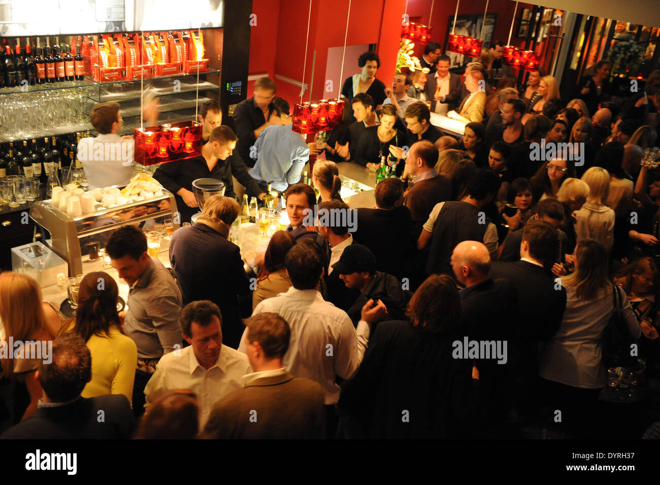 The opening of the L'Osteria in Munich, 2011 - Stock Image
