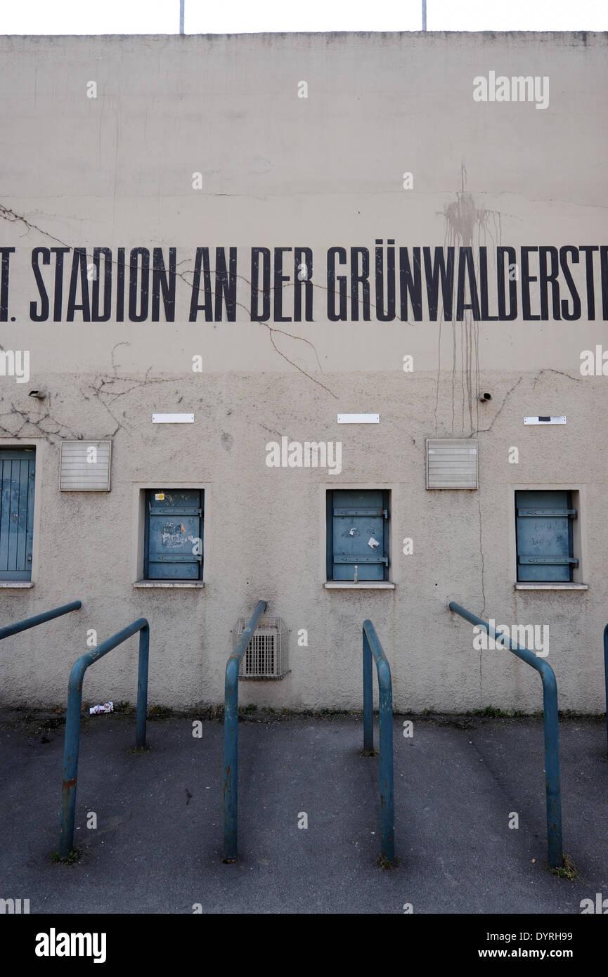 The Gruenwalder Stadion in Munich, 2011 - Stock Image