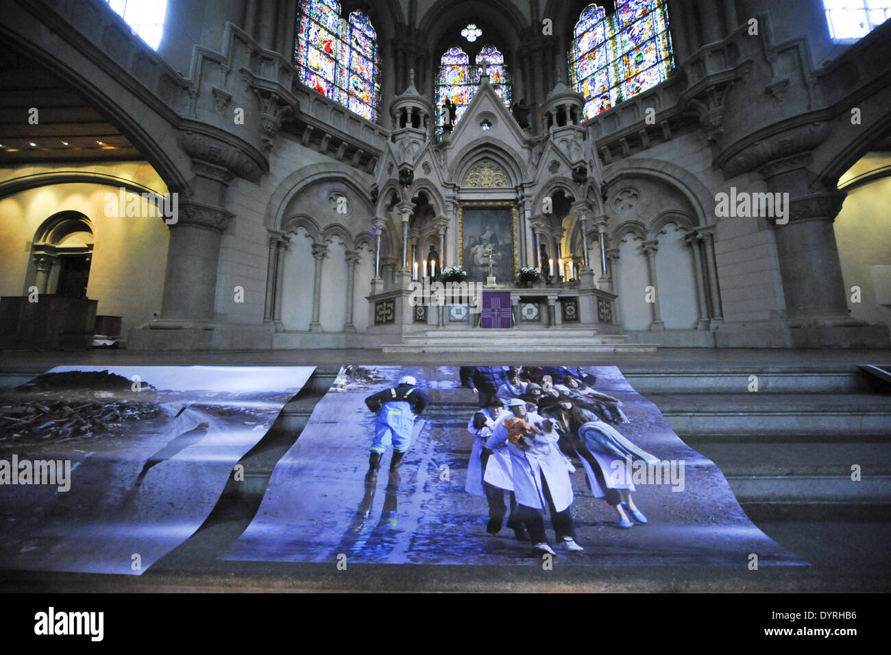 Prayers in Munich for the victims of the disaster in Japan, 2011 - Stock Image