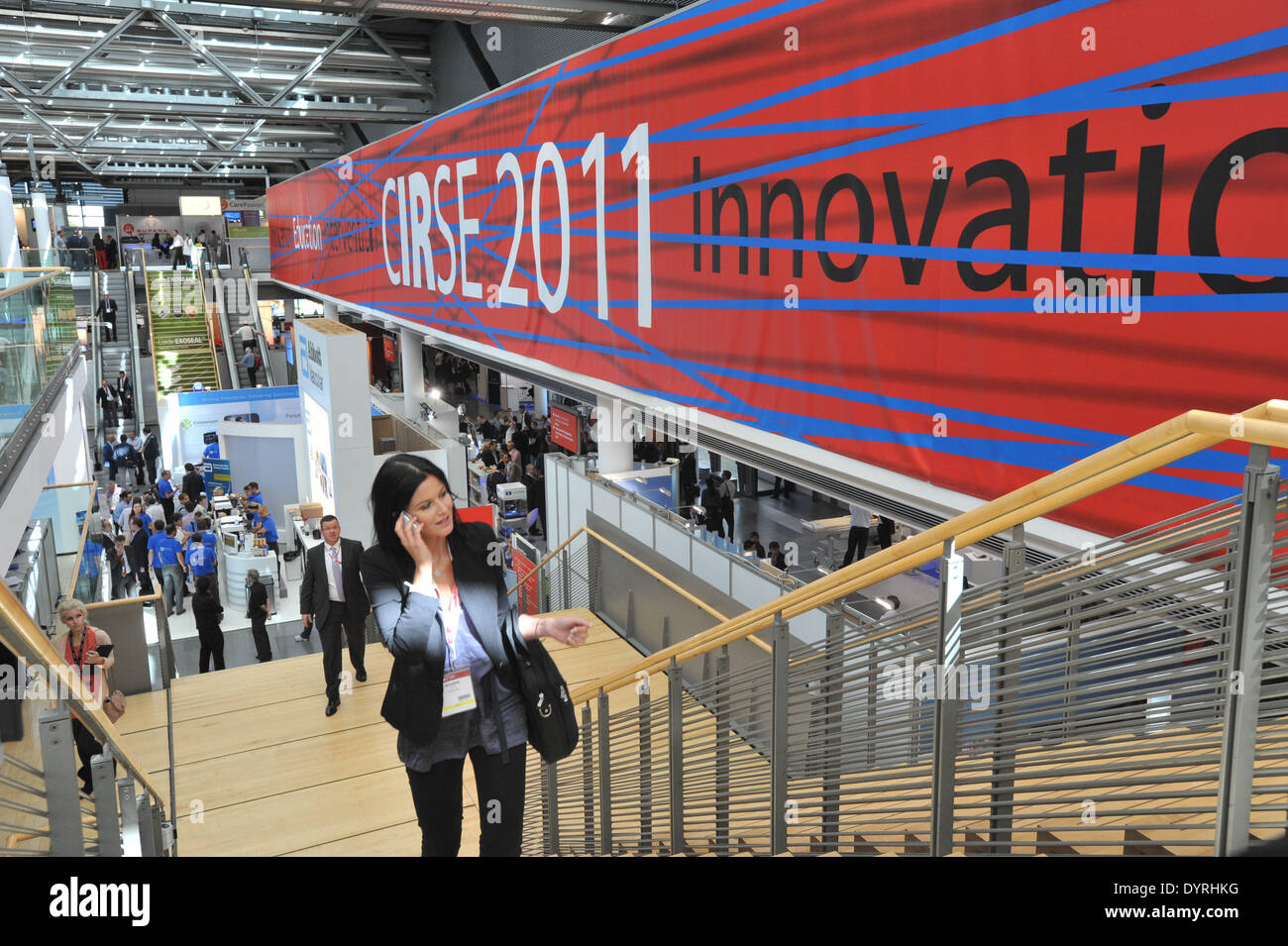 'Cirse Innovation' exhibition at the Radiology Congress in Munich, 201 - Stock Image
