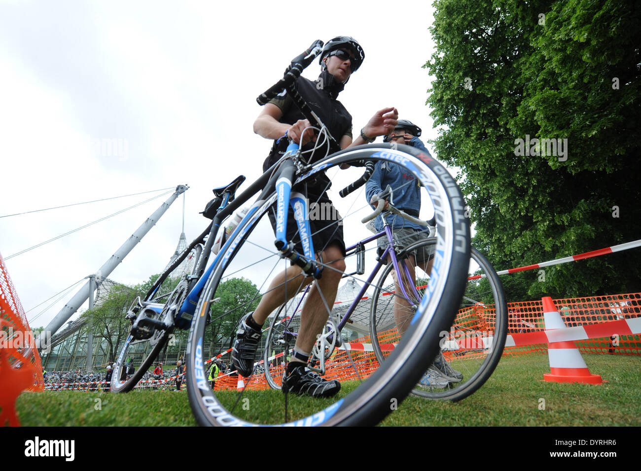 The 9th Munich City Triathlon in the Olympic Park, 201 - Stock Image