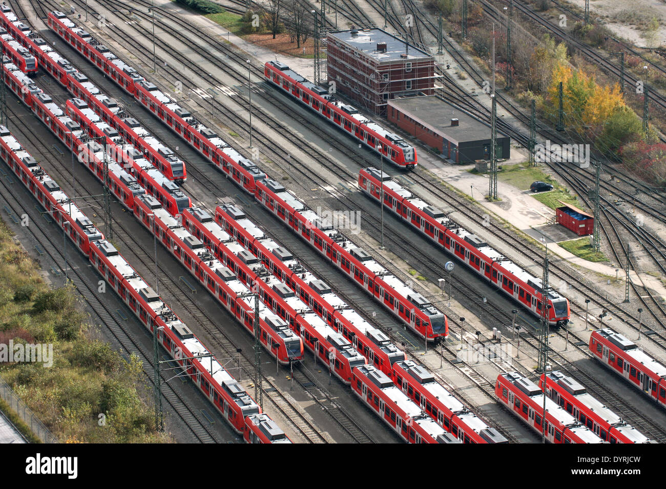 S-Bahn trains in Munich, 2008 Stock Photo