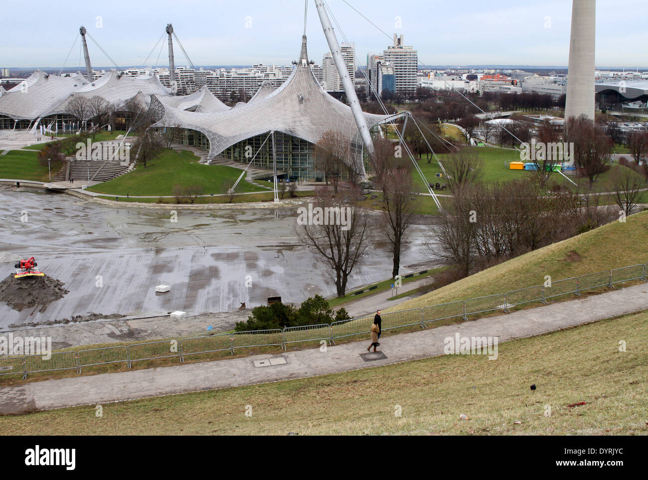 The FIS Alpine Ski World Cup cancelled in the Olympiapark in Munich, 2012 Stock Photo