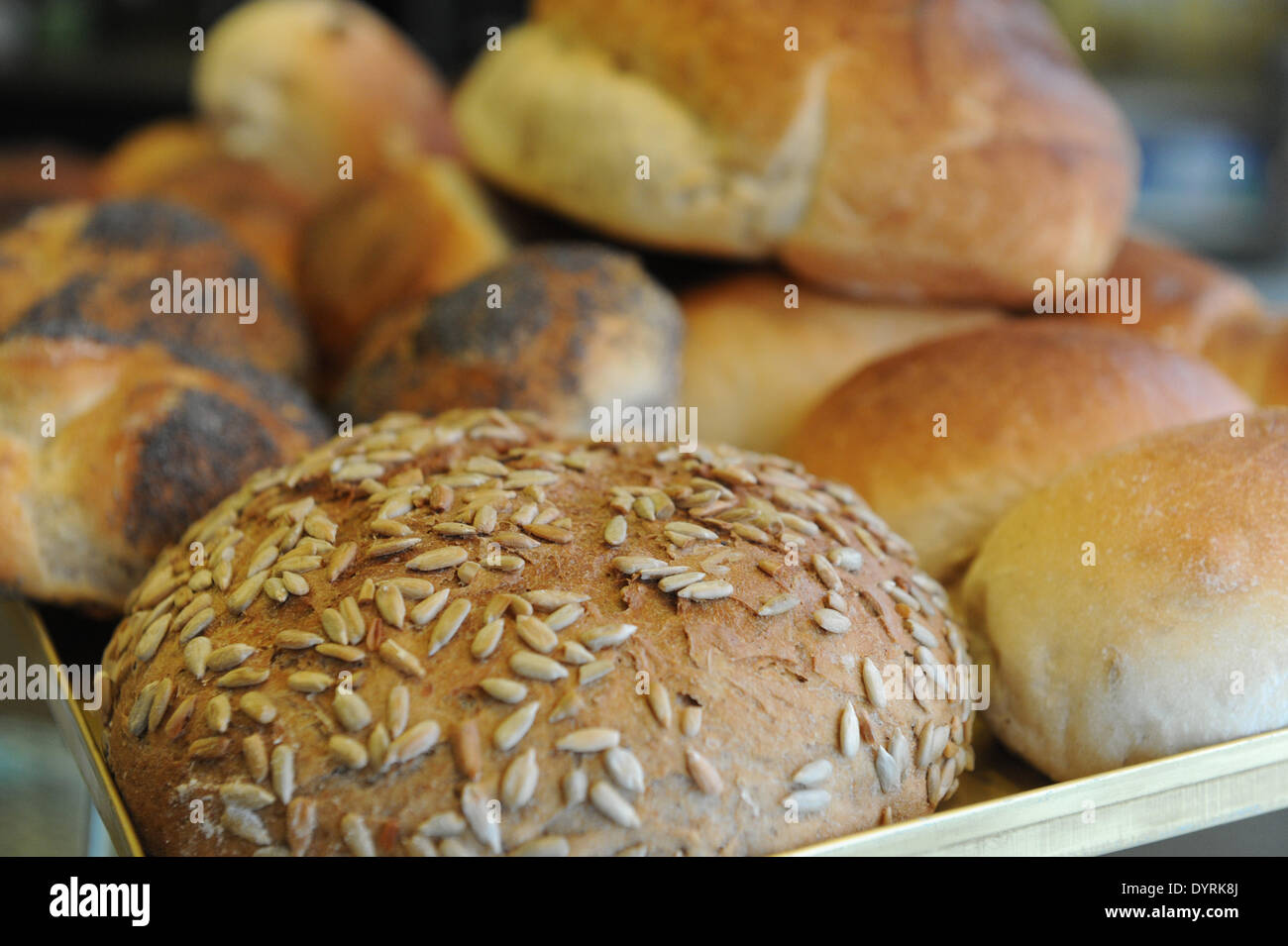 Bread and rolls from the bakery Artur Herrmann in Munich, 2012 - Stock Image