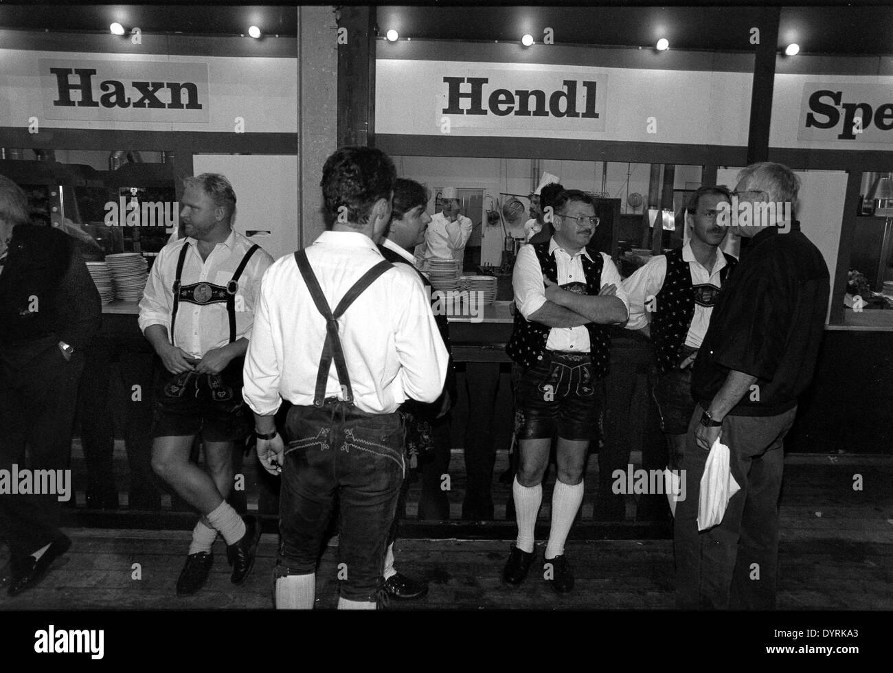 Waiter at the Oktoberfest, 1998 - Stock Image