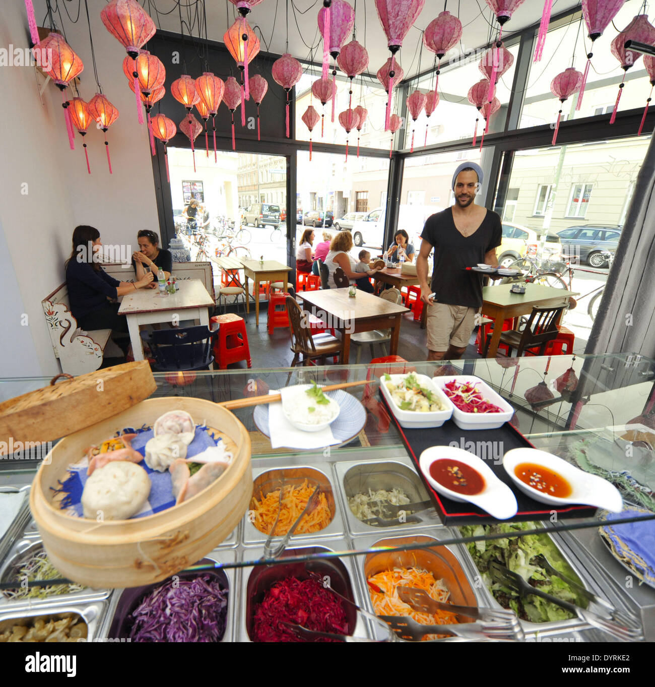 The 'Fei scho' diner in Munich, 2012 Stock Photo