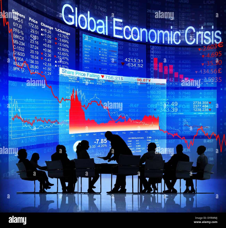 Global Economic Crisis - Stock Image