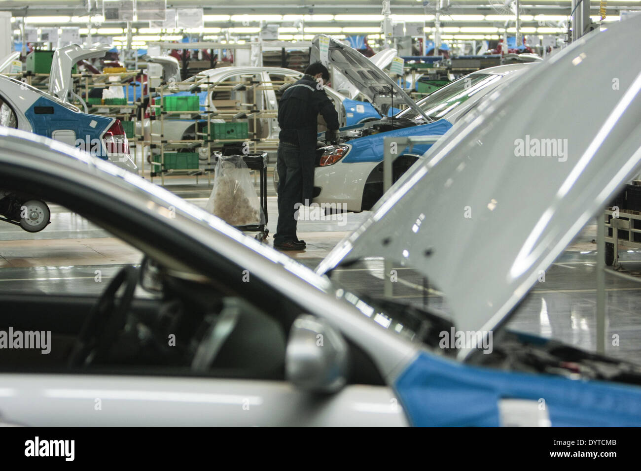 Vehicles are assembled at Kia Motors Corp - Stock Image