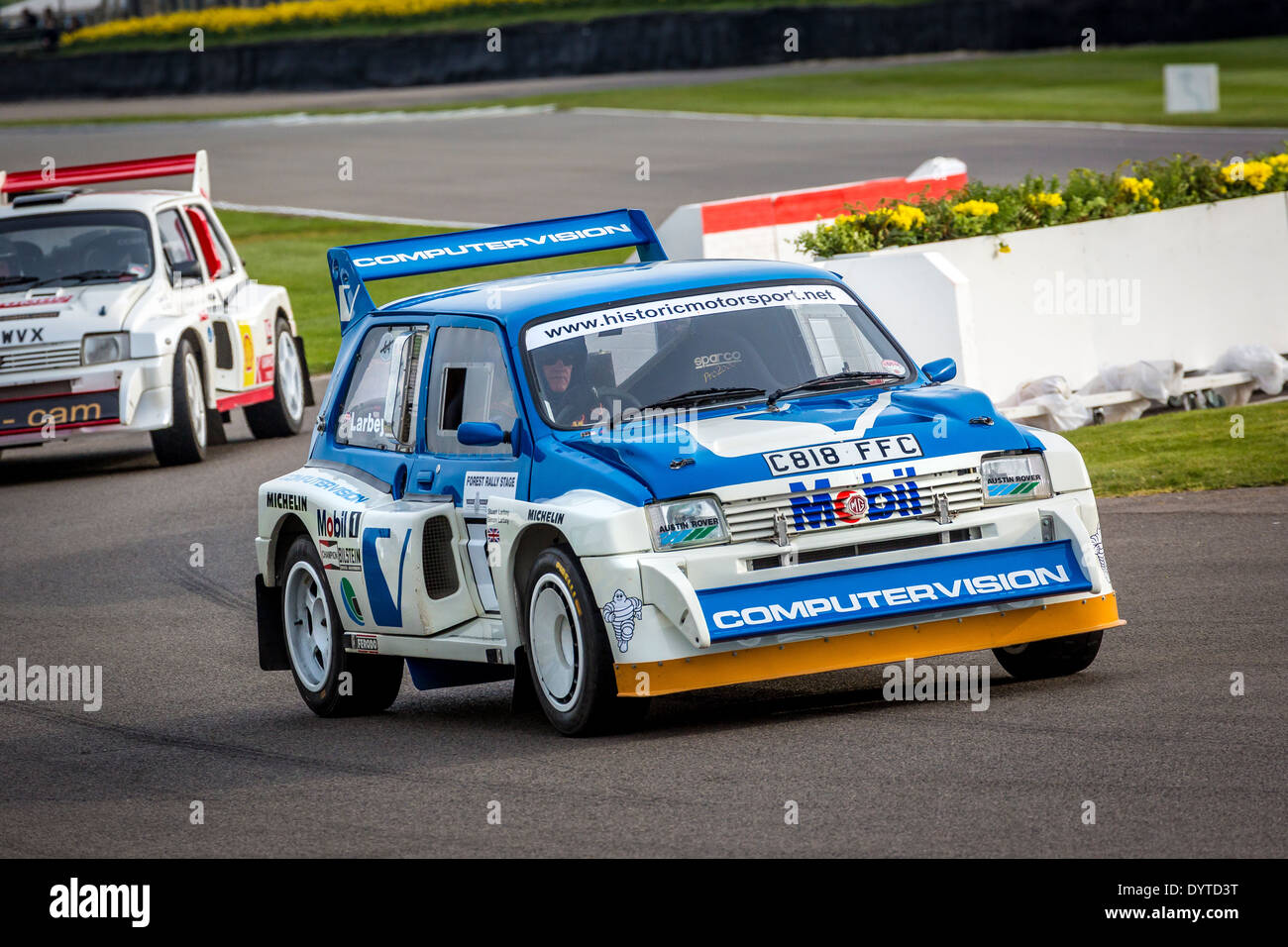 1986 Metro MG 6R4 Group B car with driver Stuart Larby. 72nd Goodwood Members meeting, Sussex, UK. - Stock Image
