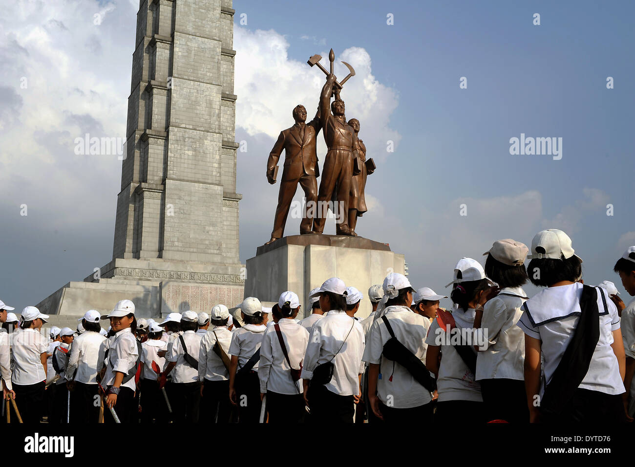 At the Juche Tower - Stock Image