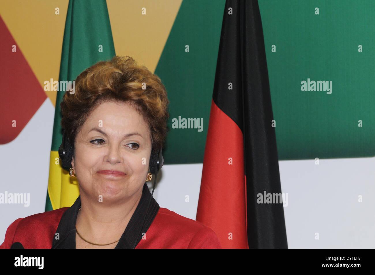 Dilma Rousseff in Sao Paulo - Stock Image