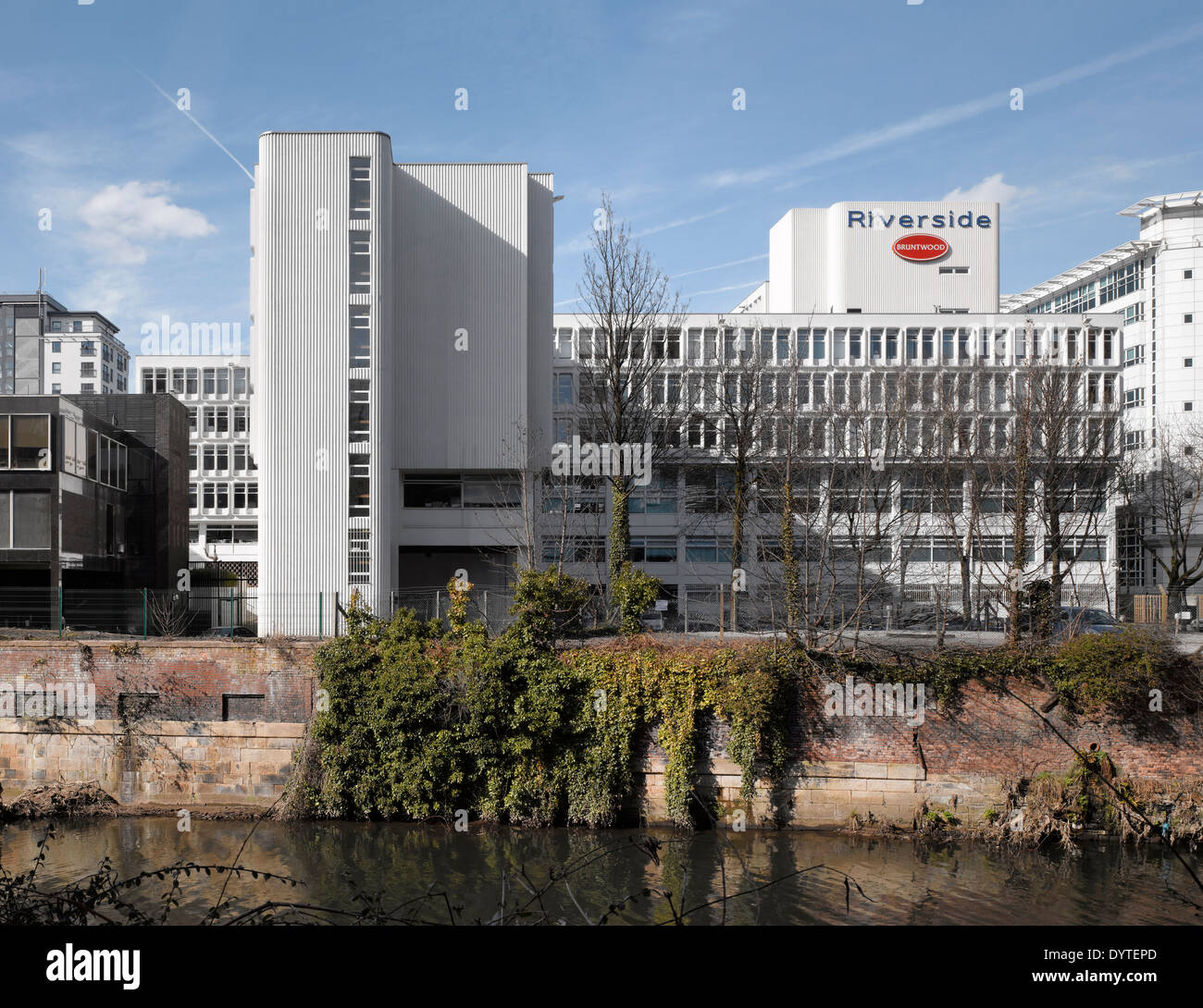 Exterior of commercial building, Riverside, Manchester, Greater Manchester - Stock Image