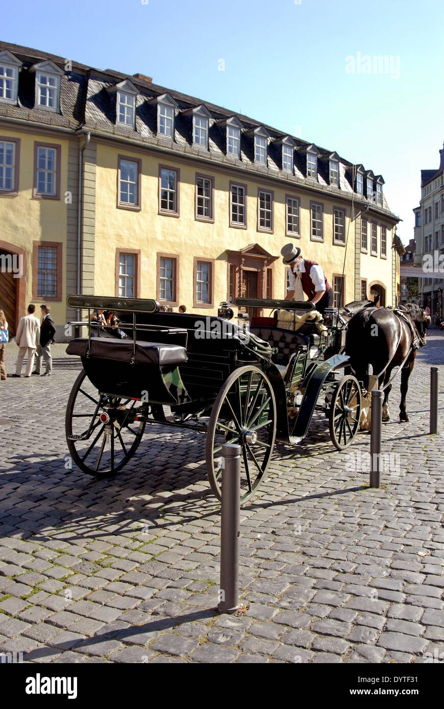Coachman before the Goethe house in Weimar, 2006 - Stock Image