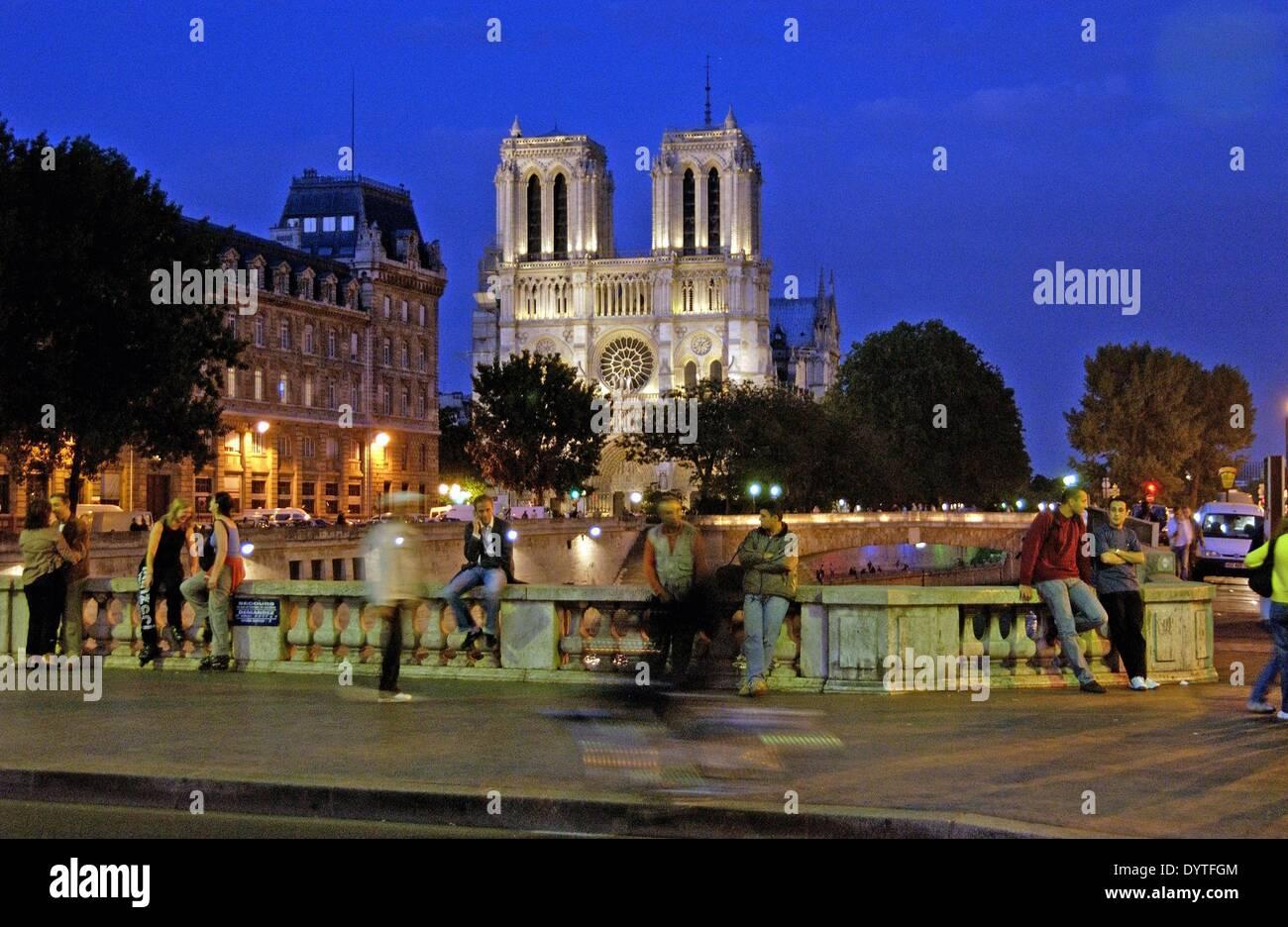 Paris at night, 2005 - Stock Image