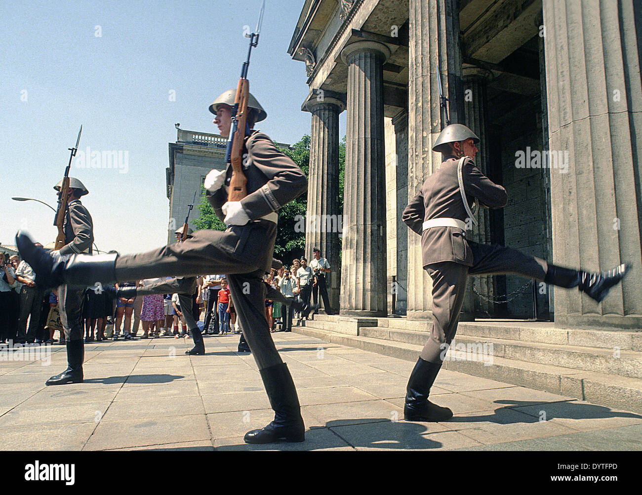 Changing of the guard of the National People's Army at the Neue Wache in East Berlin, 1989 - Stock Image