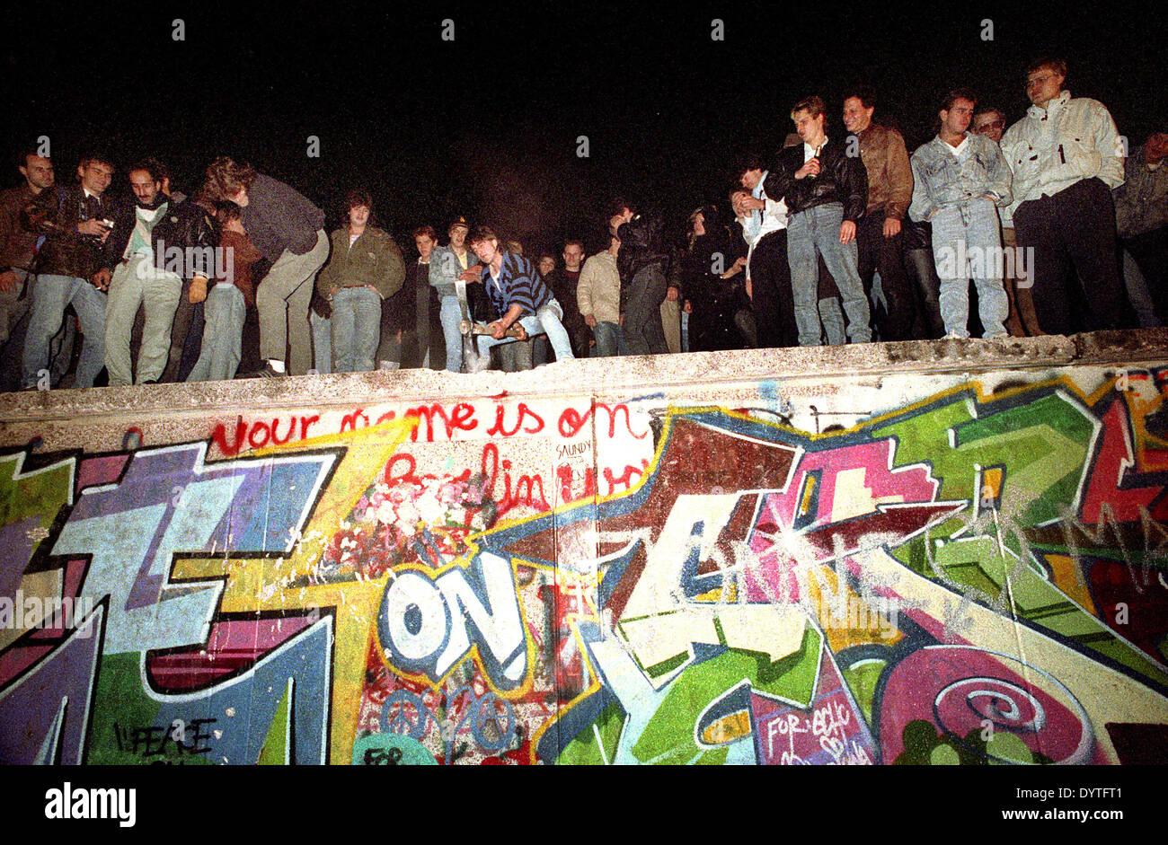 Fall of the Berlin Wall, 1989 Stock Photo