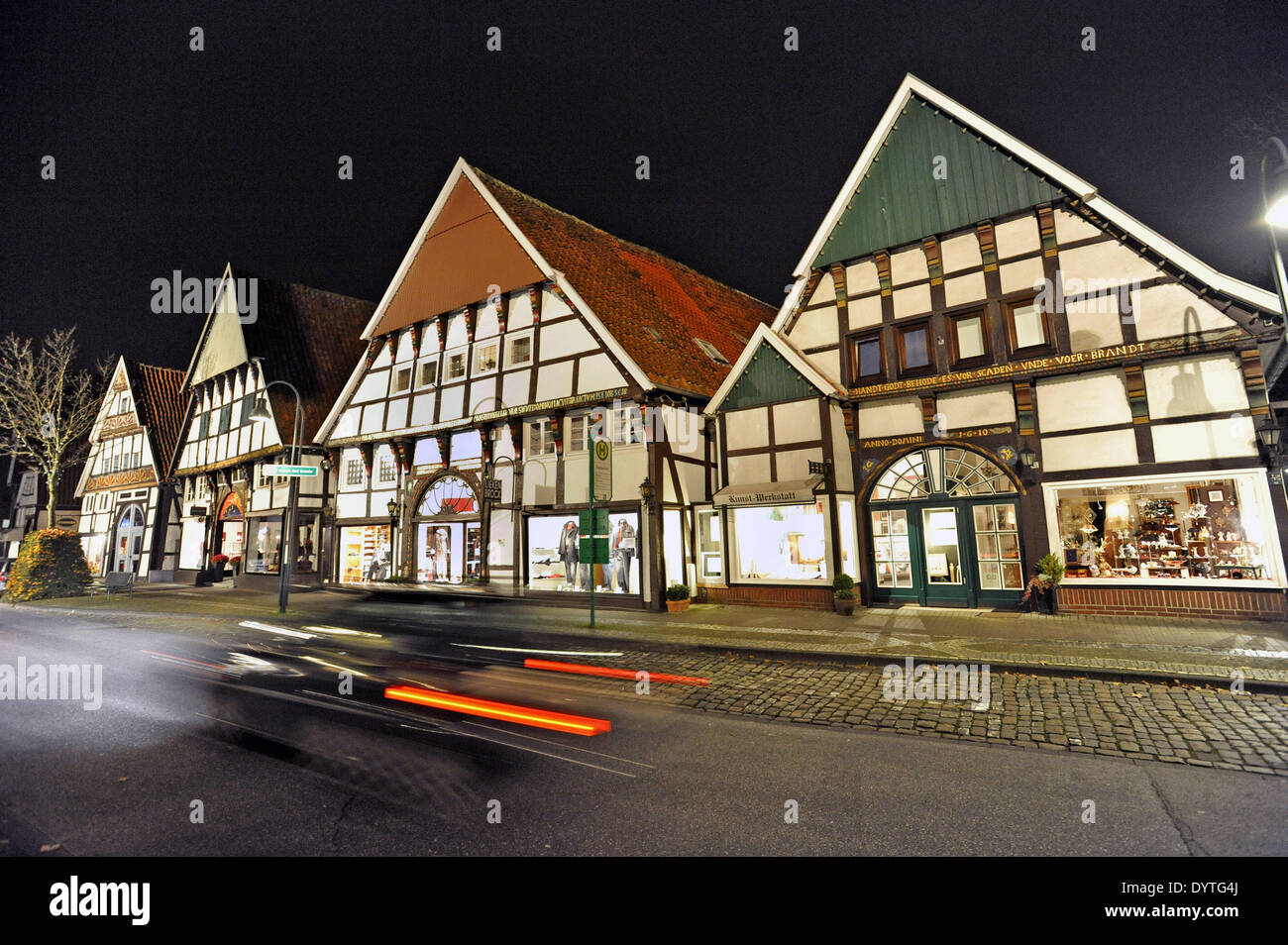 Half-timbered houses - Stock Image