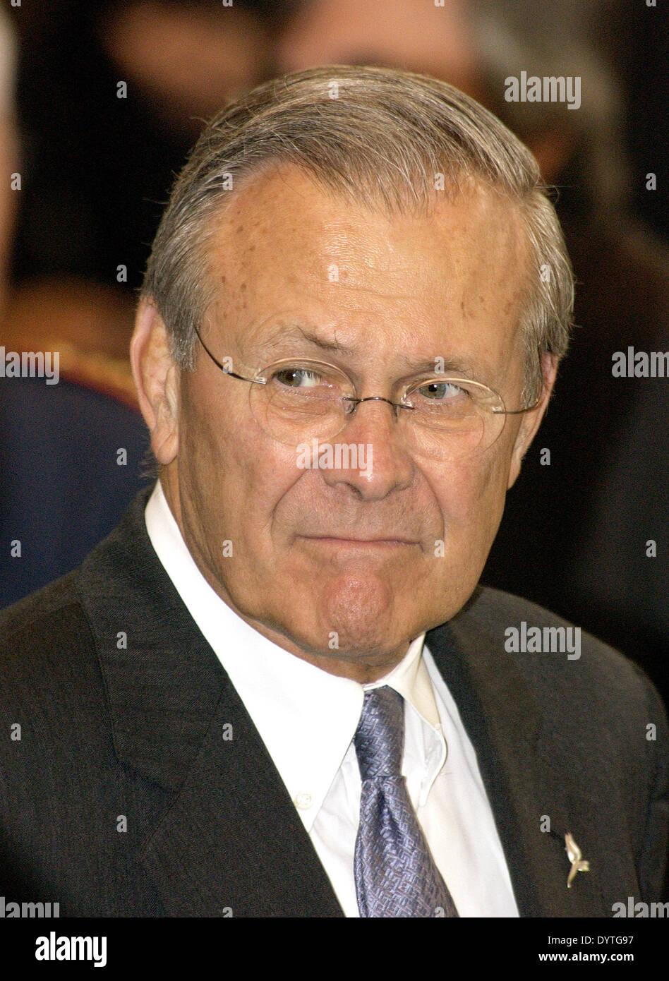 Donald H. Rumsfeld - Stock Image