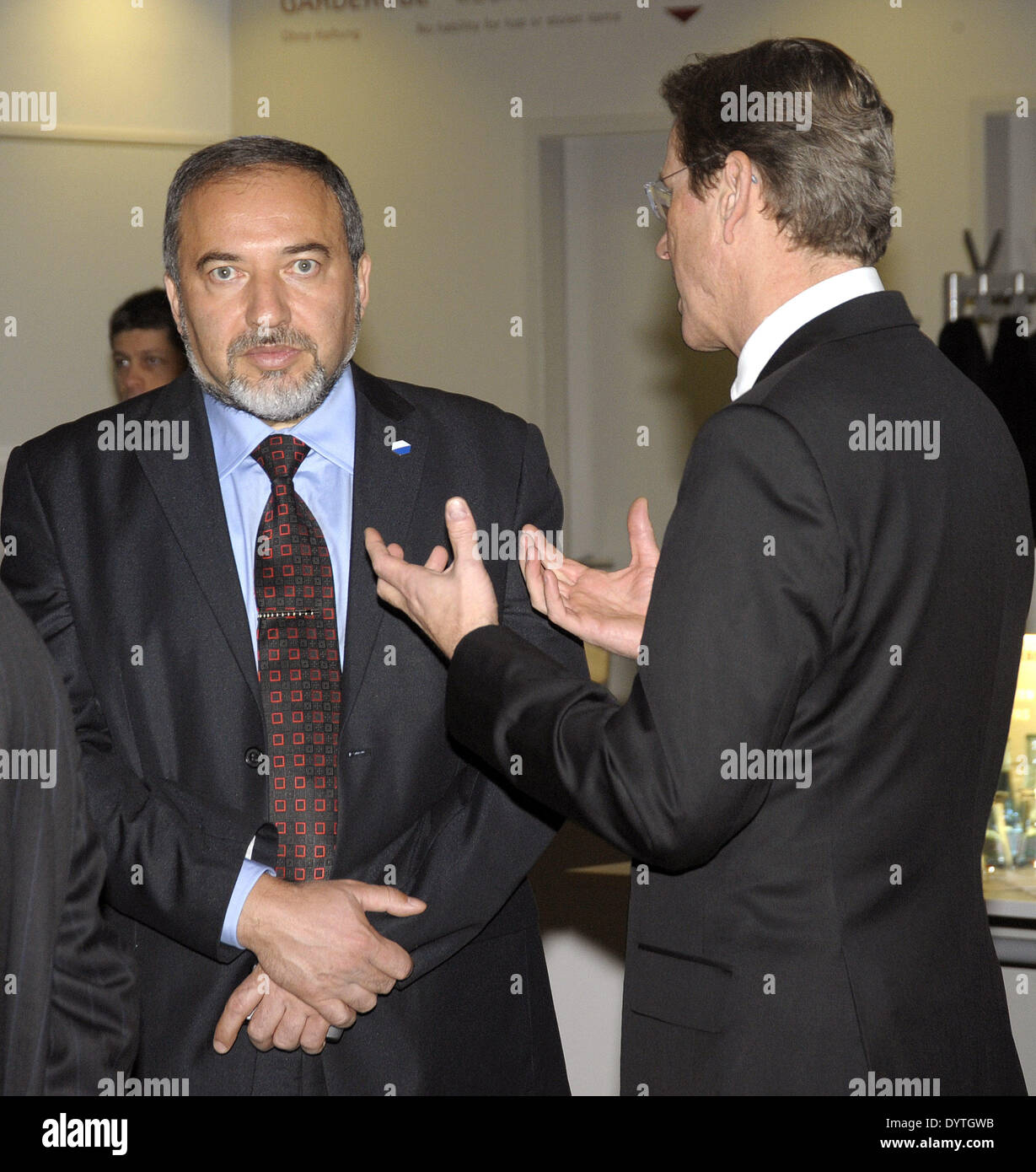 Lieberman and Westerwelle - Stock Image