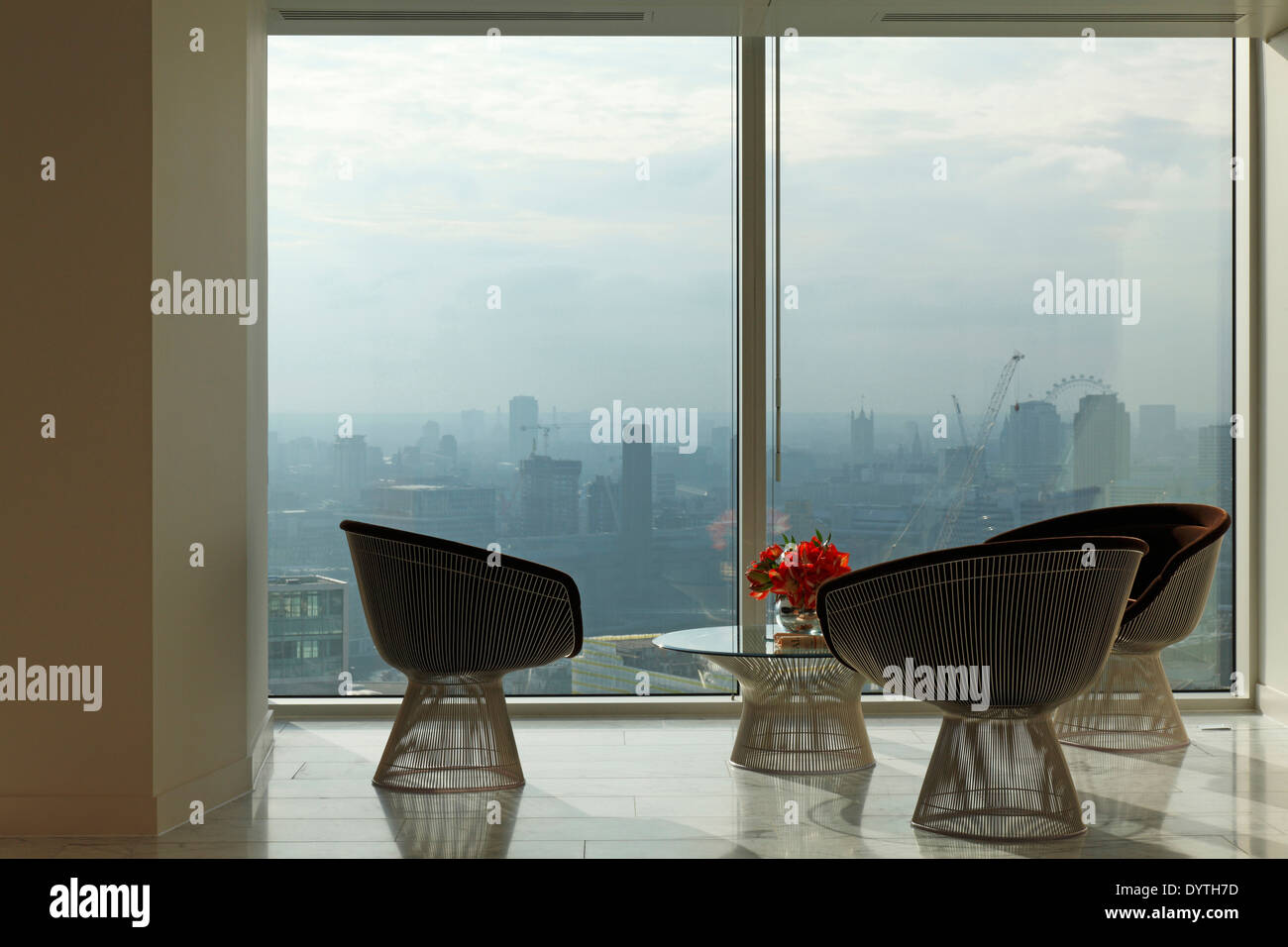 platner furniture. Warren Platner Chairs And Table In Office With View Of The London Skyline Furniture O