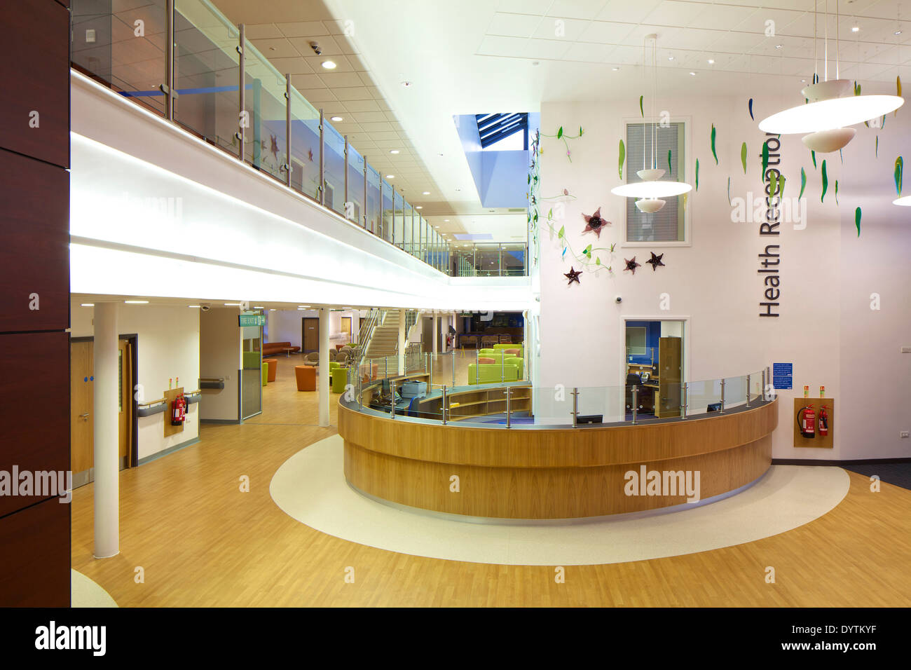 Reception area of Houghton Primary Care Centre, Houghton-le-Spring - Stock Image