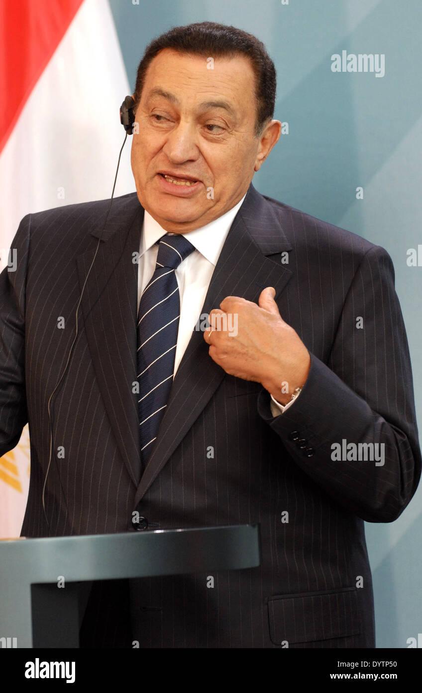 Muhammad Hosni Mubarak - Stock Image