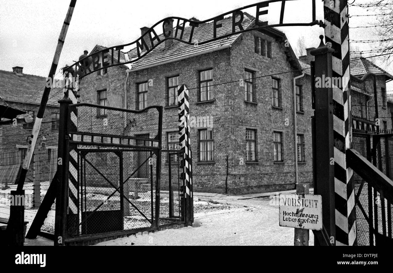 Auschwitz concentration camp - Stock Image