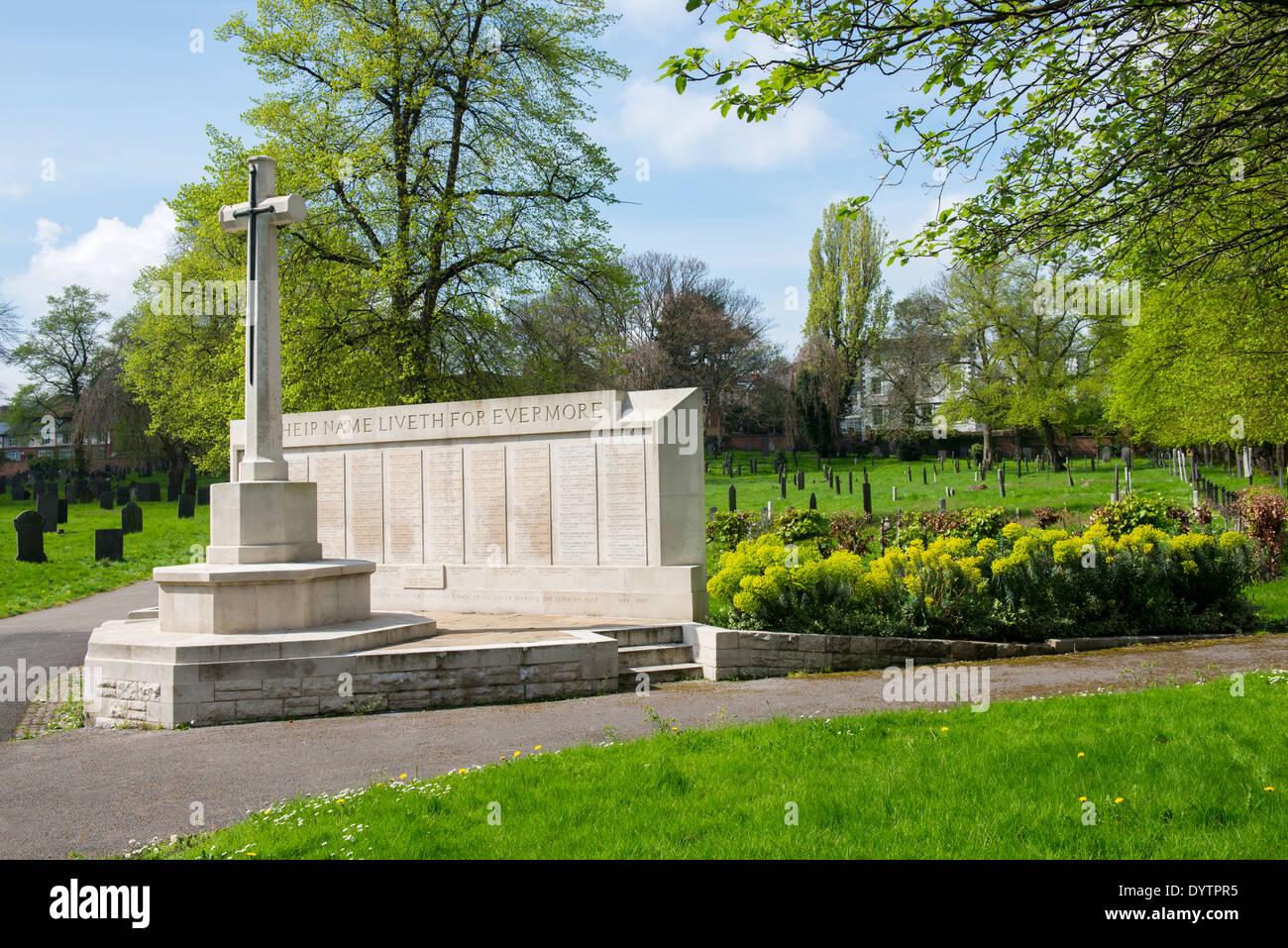 Memorial at the Nottingham City General Cemetery, Nottinghamshire England UK Stock Photo