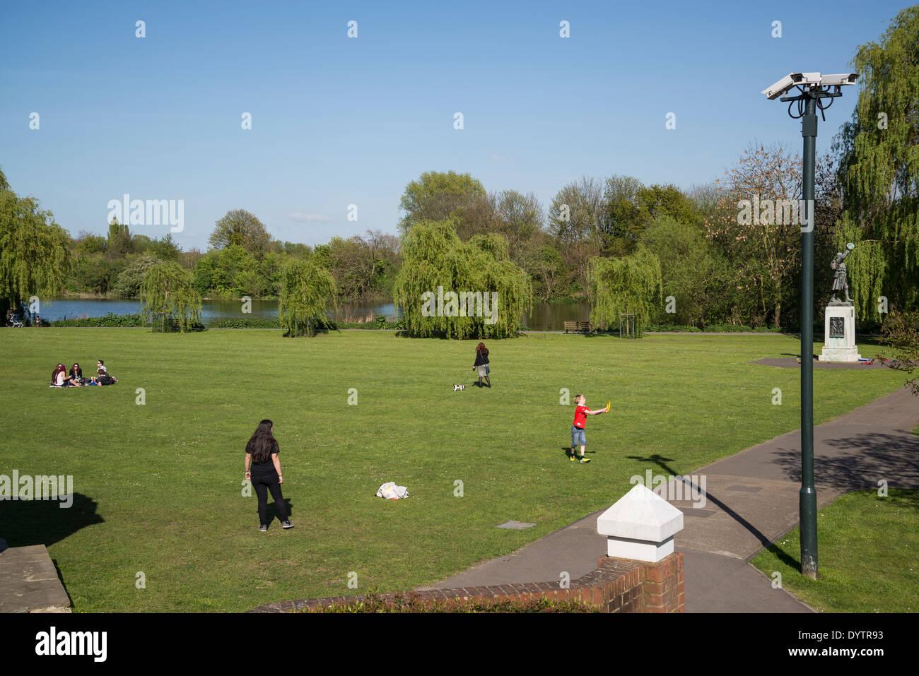 Radnor Gardens, Strawberry Hill, Borough of Richmond, London, UK - Stock Image
