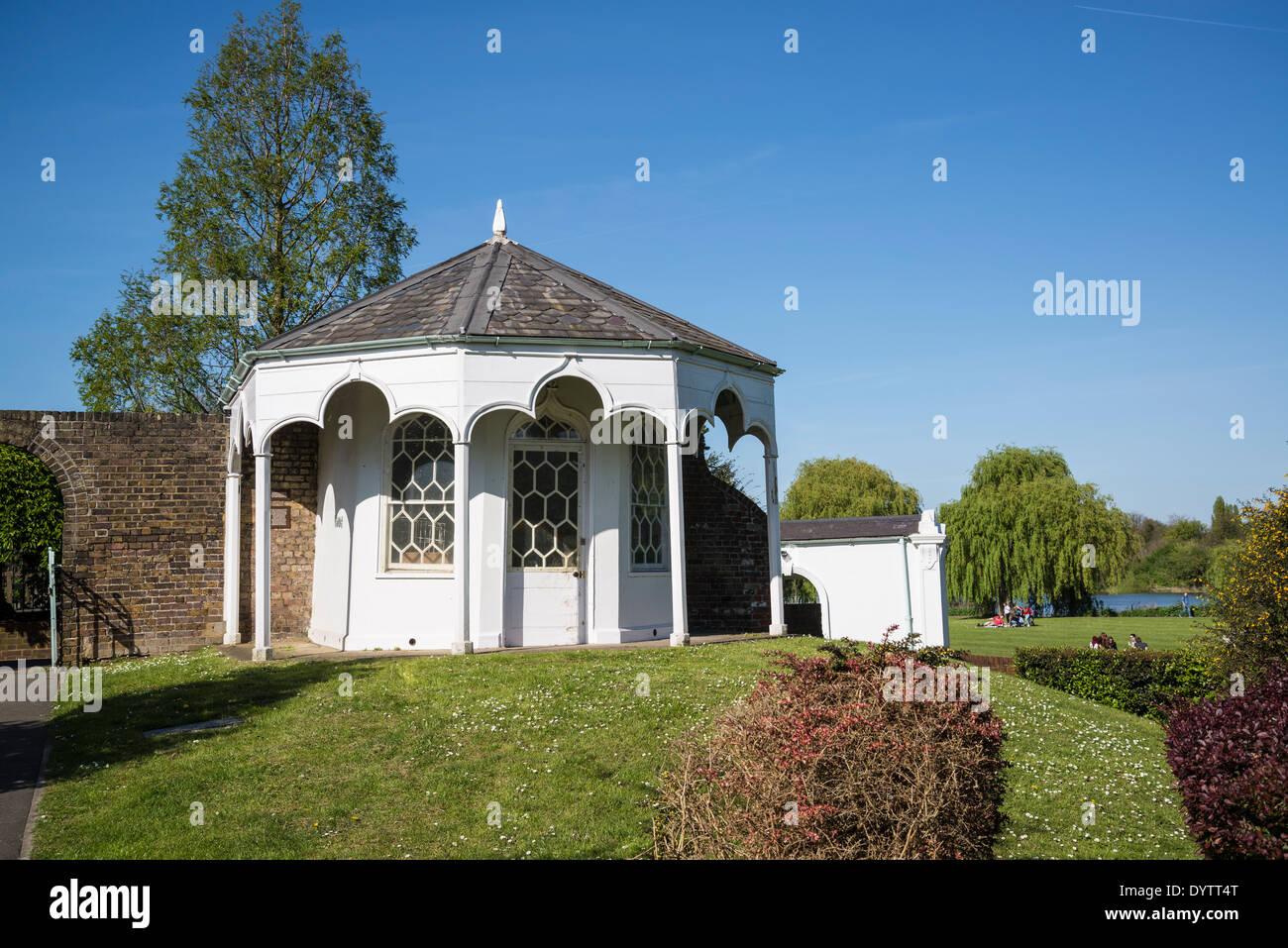 Radnor Gardens Pavilion, Strawberry Hill, Borough of Richmond, London, UK - Stock Image
