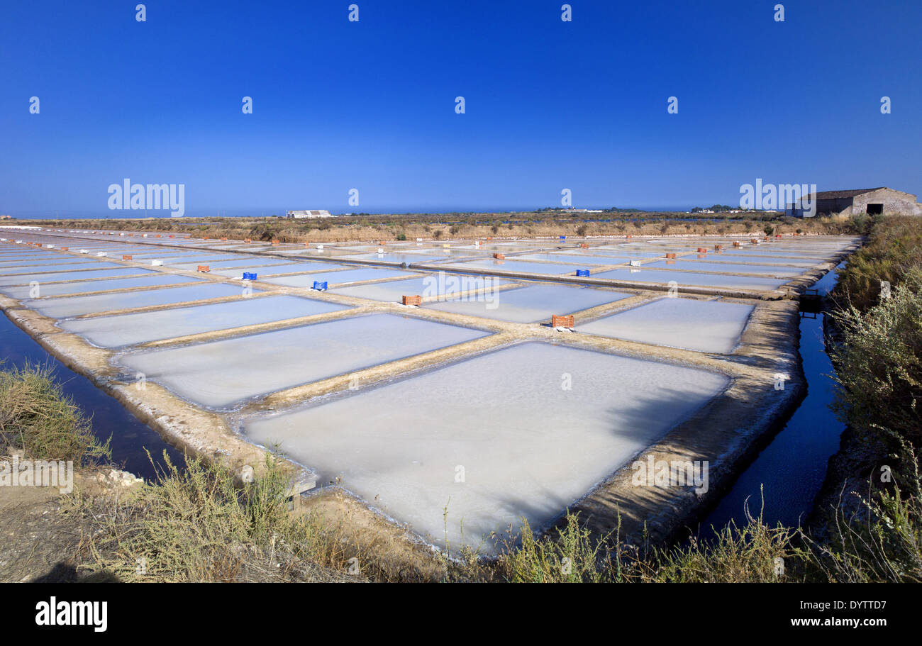 Saltpans Stock Photo