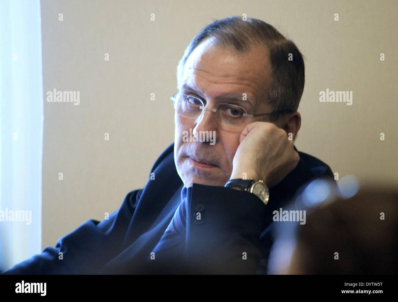 Sergey Viktorovich Lavrov - Stock Image