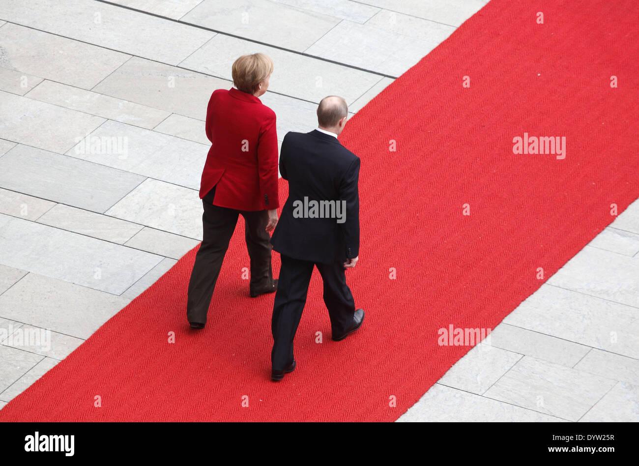 Merkel and Putin - Stock Image