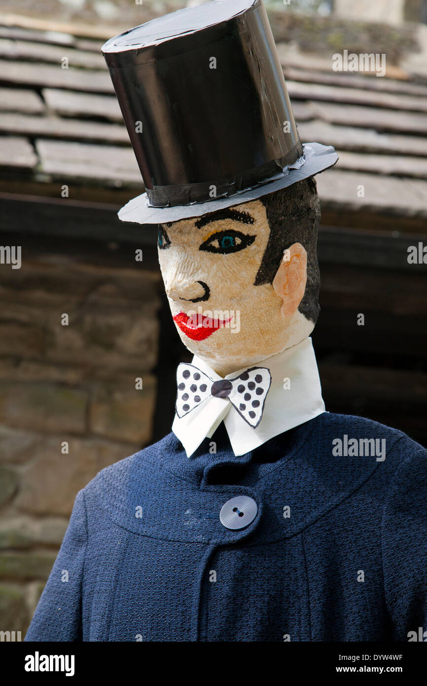 Lord Snooty was a fictional character in a comic strip in the UK comic The Beano, . An Eton Toff, with top hat and bow tie, a character at the Wray Scarecrow Festival which opens on Saturday 26th April, 2014 for a series of events. - Stock Image