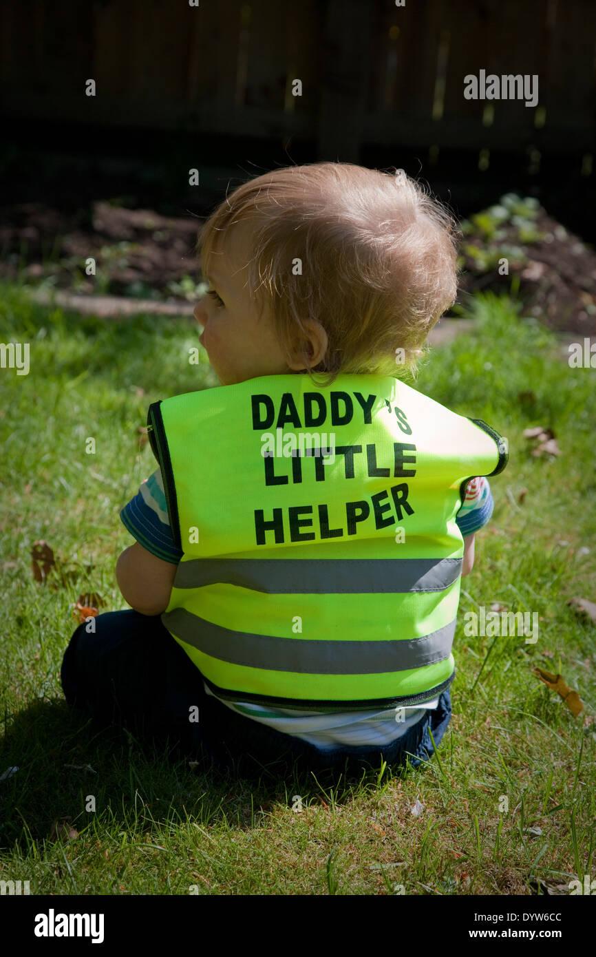 daddy's little helper - Stock Image