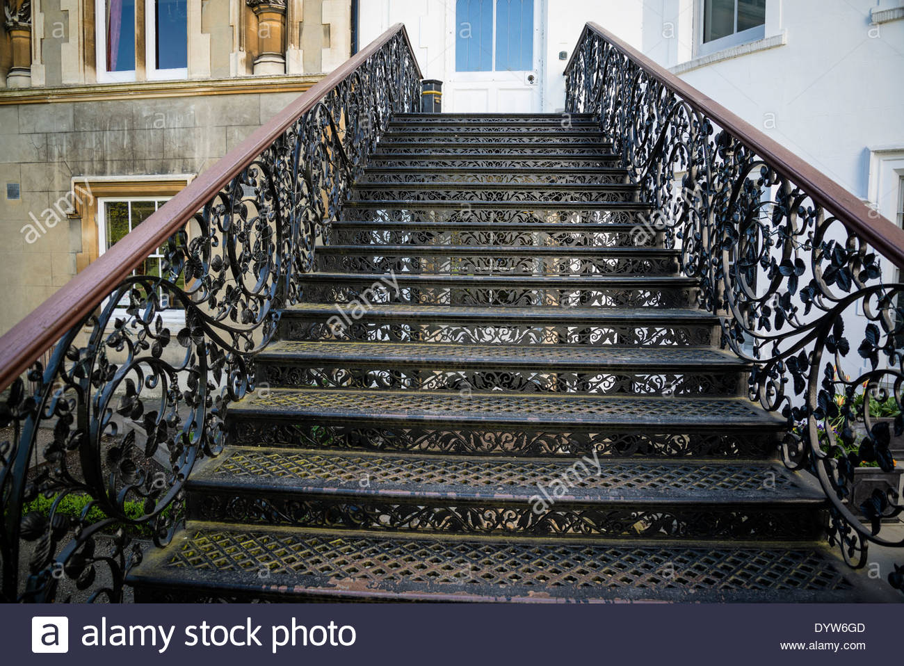 Strawberry Hill House Wrought Iron Staircase Twickenham London Uk Stock Photo Alamy