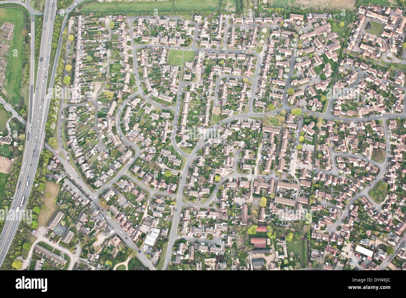 Residential area in Godmanchester, England - Stock Image