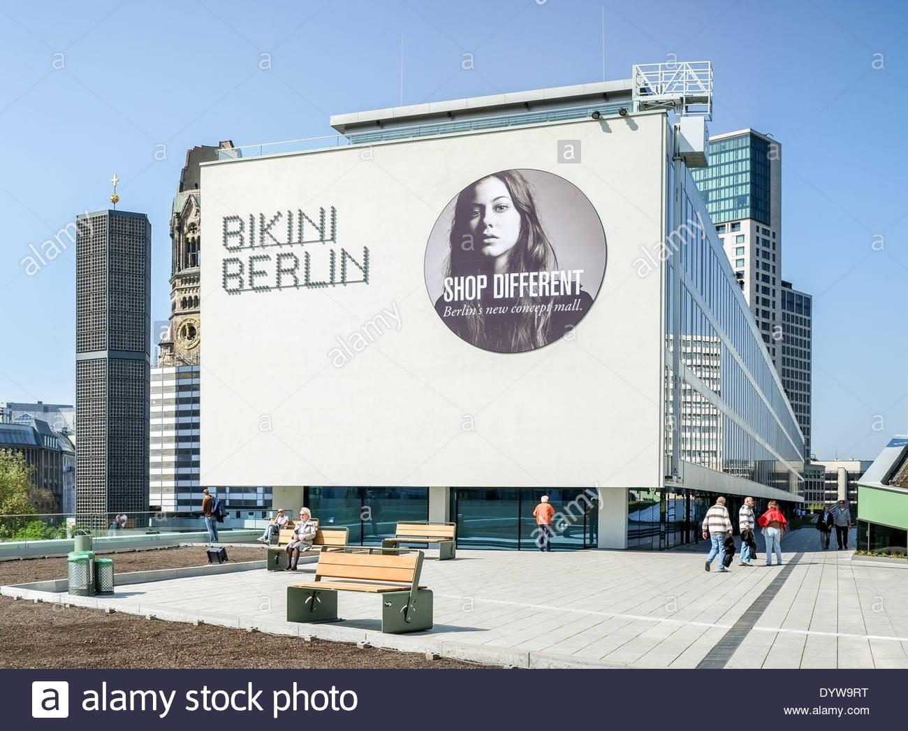 Berlin, Germany - the new shopping mall Bikini Haus - April 25, 2014 - Stock Image