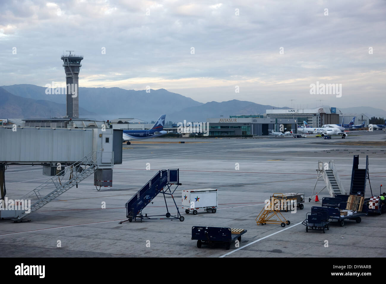 Comodoro Arturo Merino Benitez International Airport Santiago Chile - Stock Image