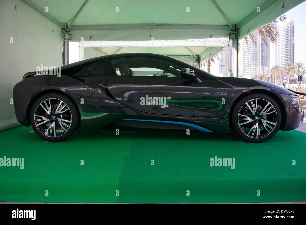 2014 Black BMW I8 Hybrid 2 Door Gullwing Sports Coupe
